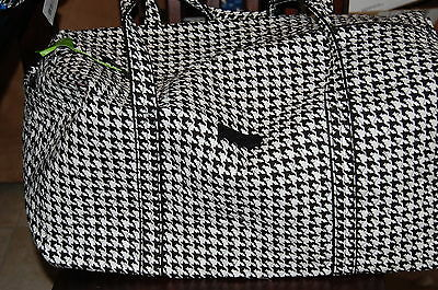 NEW WITH TAGS  VERA BRADLEY MIDNIGHT HOUNDSTOOTH LARGE DUFFEL  DUFFLE