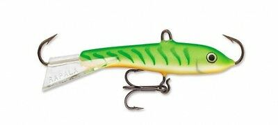 "Rapala Jigging Rap 03 W3-GGT Glow Green Tiger 1 1//2/"" 3//16 oz Ice Fishing Lure"