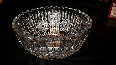 Signed LIBBEY 8 inch CRYSTAL BOWL form the early 1900's