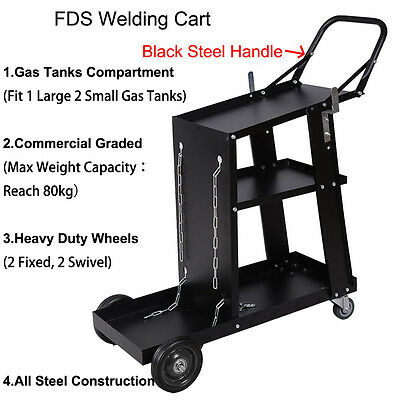 Universal MIG TIG ARC Welder Welding Cart Trolley Plasma  Cutters & Gas Bottles