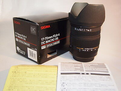 Sigma 17-70mm F2.8-4 DC MACRO OS HSM Lens for Sigma SA  Near Mint Condition #B62