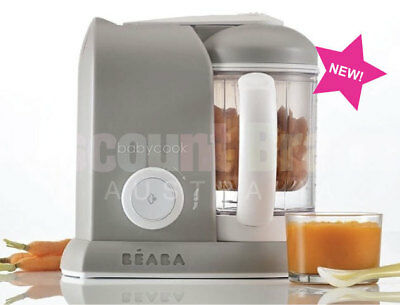 New Beaba Babycook Solo Baby Food Processor Steam Cook Blend Defrost Grey