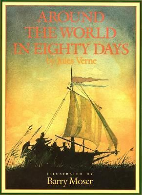Around the World in 80 Days by Jules Verne (1988, Hardcover)