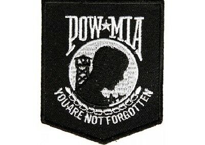LOT OF 5 - POW/MIA YOU ARE NOT FORGOTTEN BIKER  PATCH