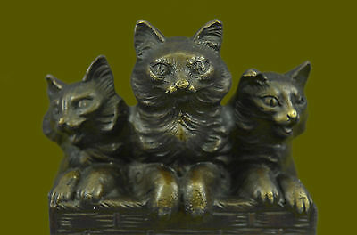 Home/Office Art Decor Bronze Statue Animal Signed Original Nick  Vienna Felines