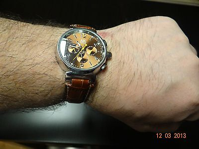 AK-Homme 3 Dials Coffee-Golden Dial Automatic Mechanical...