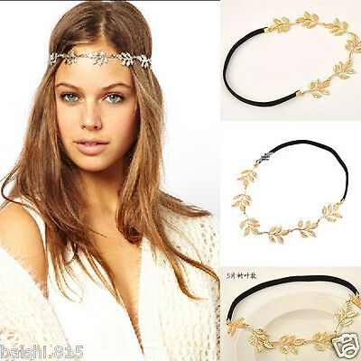 Golden Leaves Hair Band Hair Accessories Elastic Headband Korean Style Nice a392