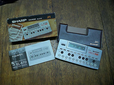SHARP EL-670 RARE MUSICAL CALCULATOR WITH BOX AND MANUAL WORKS PERFECTLY!
