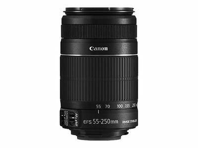 Canon EFS 55-250mm f/4.0-5.6 IS II Telephoto Zoom Camera Lens Image Stabilizer