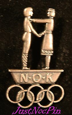 Norway Undated Large National Olympic Committee (NOC) Pin two Clutch back