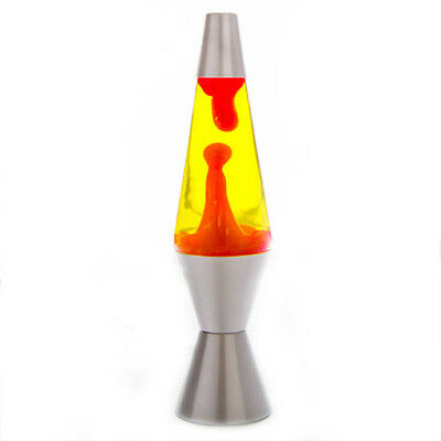 Silver/Red/Yellow Diamond Motion Lava Lamp 36cm Magma Light Peace Office Bedroom