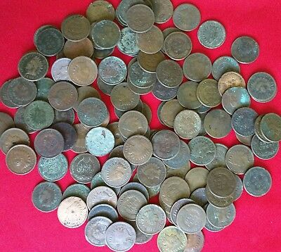Old U.S. Indian Head Cent CULL Coins *WITH DATES* // 1859-1909 // 2 COIN LOT