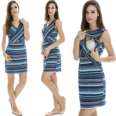 New Arrival Maternity Clothes Breastfeeding Nursing Summer Dress Cross-way Style