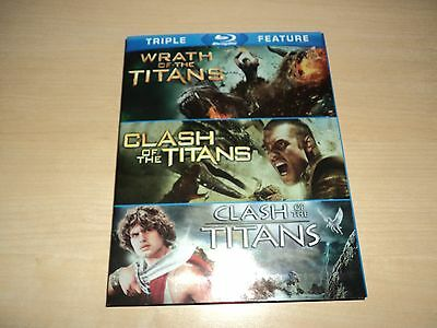 Clash / Wrath of the Titans on Blu-ray -  1981 2010 NEW & SEALED! Triple Feature