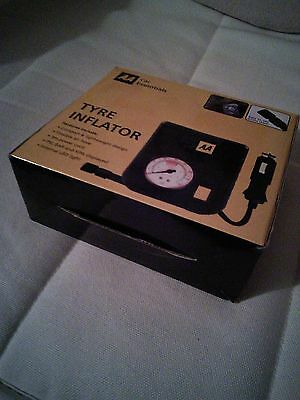AA top quality tyre inflator with LED LIGHT  new and boxed compact joblot of x2