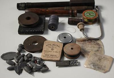 Job Lot / Antique Collection Of Fishing Gears - Rare - [Pl740]