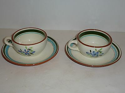 Vintage Stangl Country Garden Pair Cups/Saucers