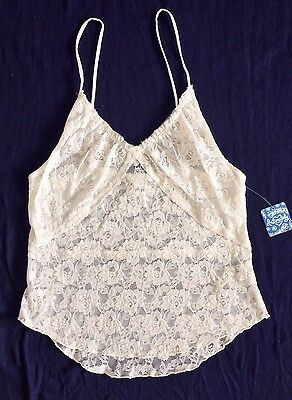 NWT! FREE PEOPLE Ivory Intimately Lace Camisole Tank Size L