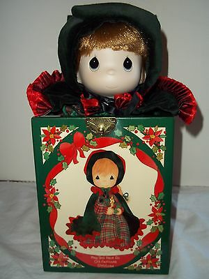 1991 Precious Moments Doll Musical Jack in the Box Christmas Theme by Enesco