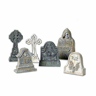 SVH Village Tombstones Set of 6 Snow Village Halloween Dept 56 Accessory 53065