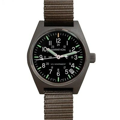 US Military Issue Field Watch Marathon Quartz Date Army GI NEW Sage Green Model