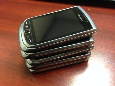 Lot of 5 BlackBerry Torch 9810 - Silver- (Unlocked) Good Condition Smartphone