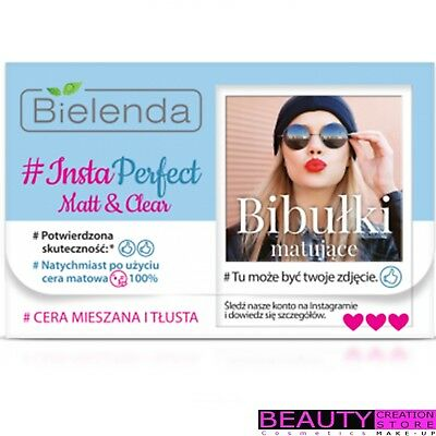 BIELENDA Matt & Clear Face Blotting Tissues Mixed And Oily Skin 100pcs BN133