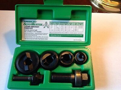 Greenlee 7235BB Slug-Buster Manual Knockout Kit for 1/2 to 1-1/4-Inch Conduit #