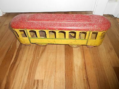 Vintage Antique Toy DAYTON HILLCLIMBER FLOOR TROLLY CAR - Very Neat Early Piece
