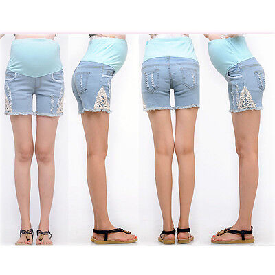 Maternity Jeans Shorts Trousers Overbump Cute Trendy 033 Size 6 8 10 12 14