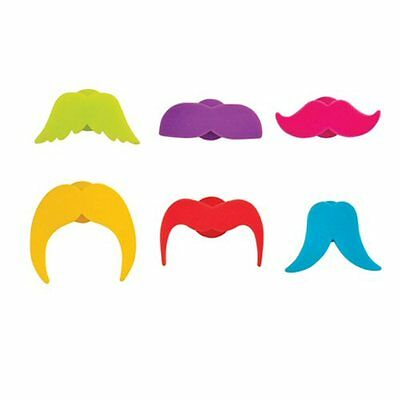 True Fabrications Silicone Mustache Wine Glass Charms / Drink Markers - Set of 6