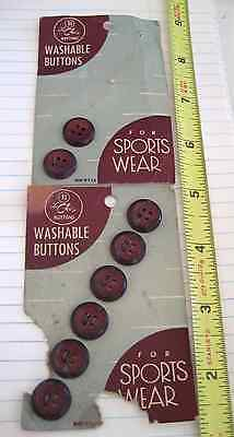 "Vintage Buttons- Two Cards, Le Chic ""For Sports Wear"", Golden USA, 1940s? Estate"