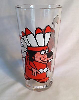 Pepsi Collector Series Glass Go Go Gophers Ex Cond Bright Colors