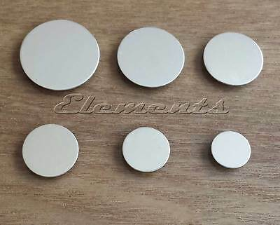 925 Sterling Silver Round Flat Disc Stampings 0.5mm or 1mm Thick MULTI LISTING