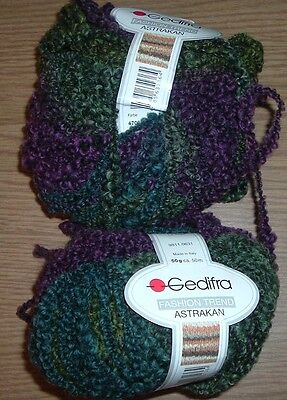 GEDIFRA FASHION TREND ASTRAKAN CLR 4706 LOT 901  TWO SKEINS 50G 75M   ITALY