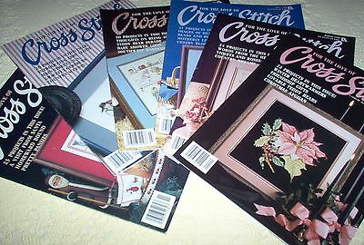 FOR THE LOVE OF CROSS STITCH  MAGAZINE LOT (January - November, 1990)