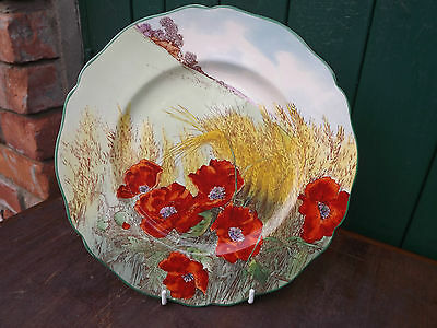 """Vintage Royal Doulton Poppy and Wheat Plate D6312  10"""" diameter"""