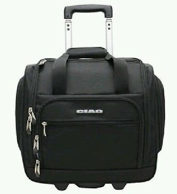Carry On Luggage Under Seat Rolling Bag Black Travel Case  travel bag