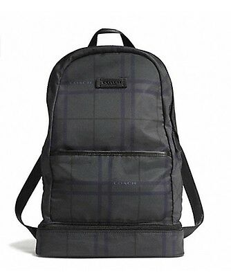 NWT COACH 93372 VARICK NYLON PACKABLE DAYPACK BACKPACK GREY/ MULTI/ Brit Check