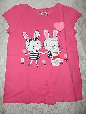 GIRL T SHIRT 3T EASTER PINK BUNNY JUMPING BEANS NEW TODDLER CLOTHES SHORT SLV