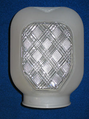 Vintage Frosted Glass Light  Shade: Art Deco - Bathroom Vanity - Porch Globe