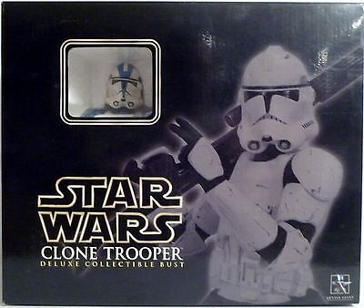 CLONE TROOPER 501st BLUE Star Wars Gentle Giant Deluxe Bust 12292/15000 2006