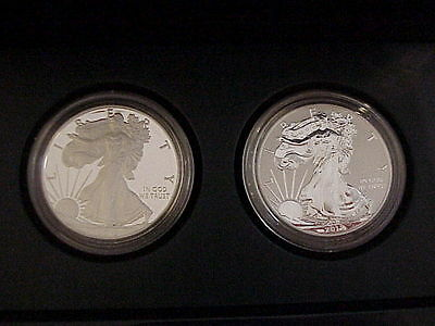 2012 S American Eagle PROOF and REVERSE PROOF 2-Coin Set with Box & COA