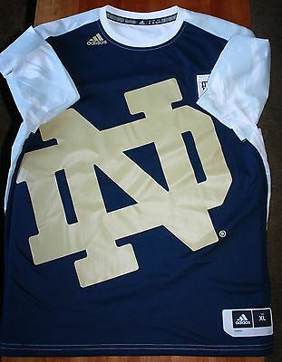 Notre Dame Blue and White Men`s Basketball Shooter Shirt by Adidas size XL
