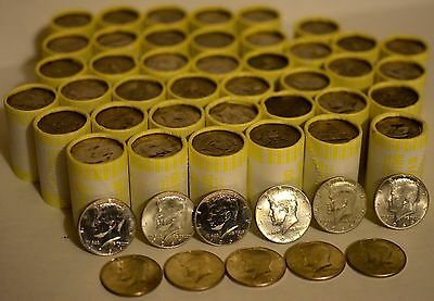 $100 FACE VALUE! 10 UNSEARCHED Half-Dollar Bank Rolls Possible 40% OR 90% SILVER