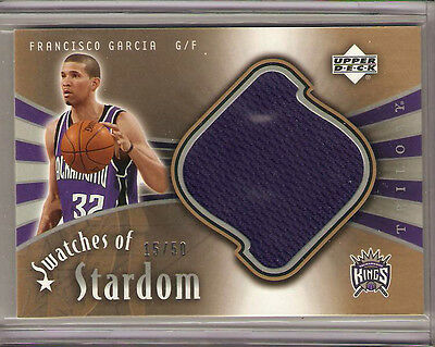 2005-2006 Upper Deck Trilogy Francisco Garcia Swatches of Stardom Card  #'d /50