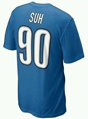 Mens XL NFL Licensed Jersey-style t-shirt Ndamukong Suh Detroit Lions #90