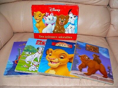 4 DISNEY CLASSIC Book FRENCH 101 DALMATIANS LION KING RARE 2005 as SEEN on MOVIE