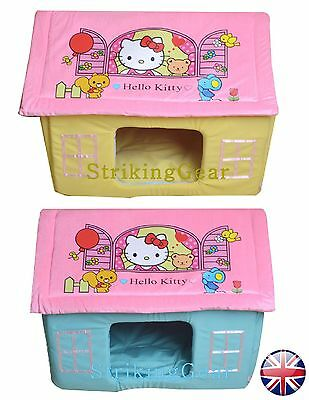 Dog Cat Pet Hello Kitty Padded House Bed Soft Comfort Great Fun * Uk*