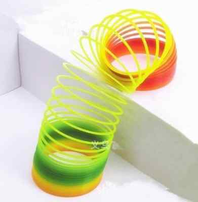Plastic Magic Gleamy Rainbow Coil Spring Slinky Colorful Novelties Childrens Toy